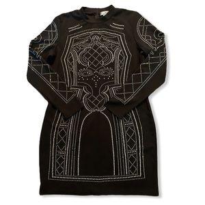 SAY WHAT? Black rhinestone dress, size XL